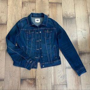 Old Navy Jean Jacket Denim Dark Wash Blue M